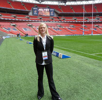 "At Wembley Stadium working for the RFL at ""The Magic Weekend"""