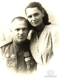 Рогачёва Раиса Матвеевна и Рогачёв Николай Павлович. По окончанию ВОВ.