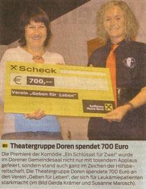 Susanne Marosch mit Obfrau Gerda Krämer