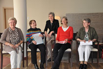 Die Autorinnen der Schreibschmiede Drostei Pinneberg in der Kursana Residenz Wedel. Foto: Petersen