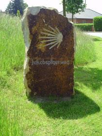 Pilgerstein auf dem Jakobsweg