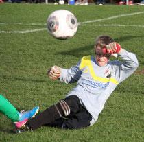 E-Jugendspieler Pascal Sparwasser war ein sicherer Rückhalt bei den D-Junioren.