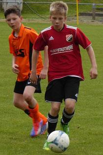 Florian Hartleib gewann mit dem VfB 4:1 in Helbra bei der JSG Mannsfeld/Grund