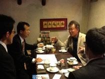 「喫茶あむーる」で古川勝三先生と面談
