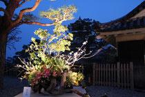 二の丸に飾られた生け花