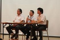 左から大西隆氏、平田幸成氏、藤原敏氏。