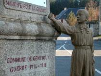 """""""Que maudite soit la guerre"""". L'exemple du message pacifiste de la ville de Gentioux"""