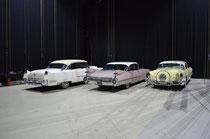 1955 CADILLAC Fleetwood, 1959 CADILLAC Sedan de Ville, 1955 BUICK Roadmaster Hartop Coupe