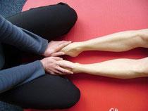 gibt eine Massage