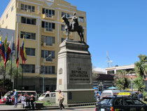 Denkmal Simón Bolívar in La Paz