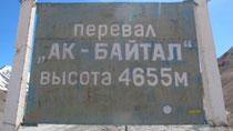 Auf dem Ak-Baital Pass