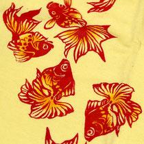 金魚のタペストリー♪