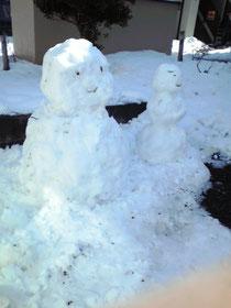 可愛い雪だるま(^^♪