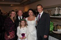 Janine, Christian, Melanie, Bernd und vorne weg: Sonnenschein Vivien