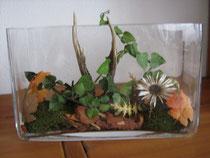 Herbstdekoration mit Rehgehörn