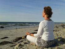 Meditation am Strand
