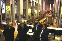 v.l.n.r.: Domdekan Heinz Heckwolf, Horst Ernehrt, Manfred Efflinger (BFE), Sabine Flegel Dombauverein