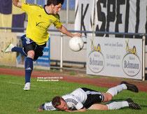 Benjamin Lünemann und der VfL behielten nur in dieser Szene die Oberhand.