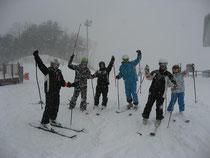 スキー場頂上にて