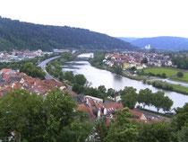 Ausblick von der Burgruine Wertheim