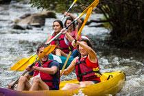 kayak, meer, zwemmen, strandjes