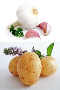 Slambuc, Erdäpfel, Knoblauch