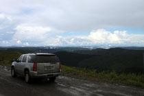 Auf dem Top of the world Highway