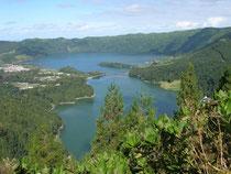 Kratersee auf den Azoren