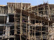 Bambus - Gerüstbau in Asien