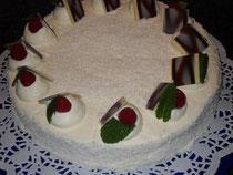 Kokos-Himbeer- Torte