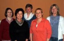 Vorsitzende Barbara Wand (Mitte) mit den neu oder wieder gewählten Vorständlerinnen Heike Lamb, Petra Secker, Anne Lucas und Jutta Meine.  Foto: Heidi Sturm