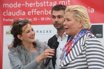 Modetalk mit Claudia Effenberg beim großen Mode-Herbsttag in Wörgl