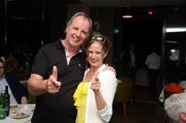 5. Tiroler Business Trophy 2014 - im Bild: Peter Gossner (Volksbank Kufstein-Kitzbühel & Kufstein unlimited) & Event-Moderatorin Adriane Gamper