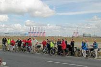 einige der teilnehmenden Radfahrer