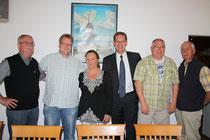 Haben richtig reingehauen: Dieter Wollmann, Volker Block, Angelika Unger, Thomas Städler, Howard Jacques und Erich Schoone