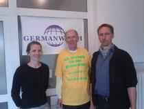 links: Vera Künzel, Assistentin der Politischen Geschäftsführung; rechts: Stefan Rostock, NRW-Fachpromotor für Klima und Entwicklung