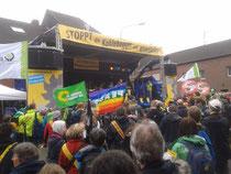 Abschlusskundgebung  zur Aktion Anti-Kohle-Kette