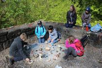 Arbeiten wie die Archäologen