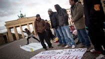 Протест беженцев в Берлине