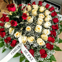 Corazon de flores funerario