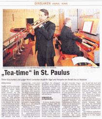 In der lokalen Ortspresse war in der NRZ - Ausgabe vom 22.März 2011 zu lesen: