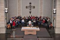 Kirchenchor bei der Probe