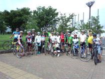 自転車と一緒に全員集合!