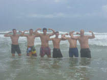 Willy, Max S., David, Nikolai, Max M. u. Stefan am Daytona Beach