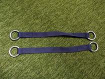 Zuggurte aus Gurtbändern mit eingenähten Metallringen