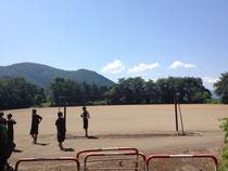 練習場・・あ、これは王女のハンドボール合宿@長野の練習場だ(^_^;)