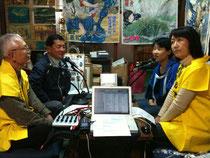 ゲストは紙芝居博物館の近藤さんと大塚さん