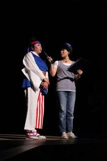 夢舞隊代表 上甲さんと司会の花ちゃん