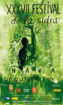 Cartel del XXXVII Festival de la Sidra de Nava