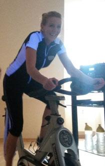 Hier unsere Spinning und BBP Trainerin Nicole in action!